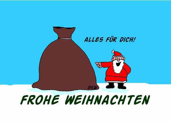 Weihnachtsgeschenke Sack.Cartoon Geschenk Viele Weihnachtsgeschenke